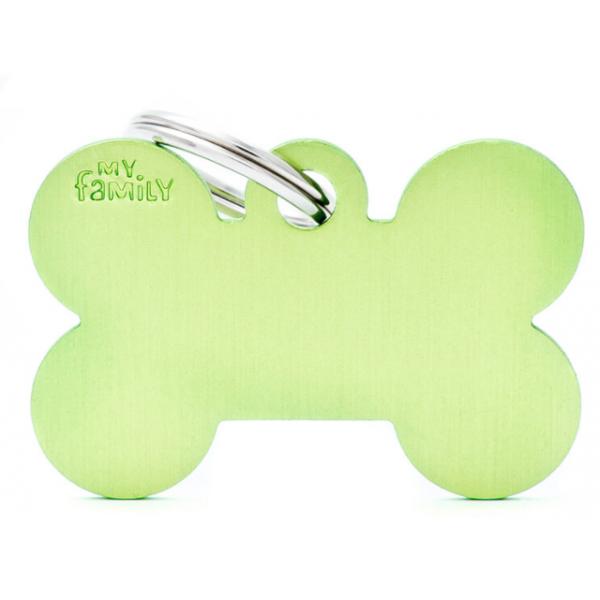 My Family - медальон във формата на зелен алуминиев кокал