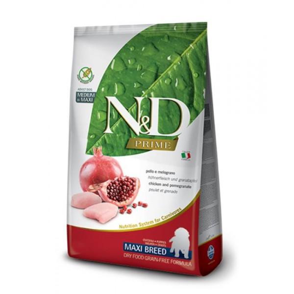 N&D PRIME CHICKEN & POMEGR. PUPPY LARGE BREED - Промоция 2 х 2,5кг + 2,5кг подарък