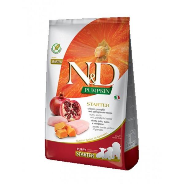 N&D PUMPKIN, CHICKEN & POMEGR. STARTER PUPPY ALL BREEDS - Промоция 2 х 0,800 кг + 0,800 кг подарък