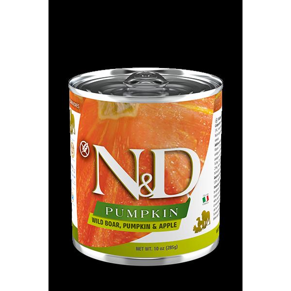N&D консерва за кучета BOAR PUMPKIN&APPLE - глиганско, тиква и ябълка, 285g