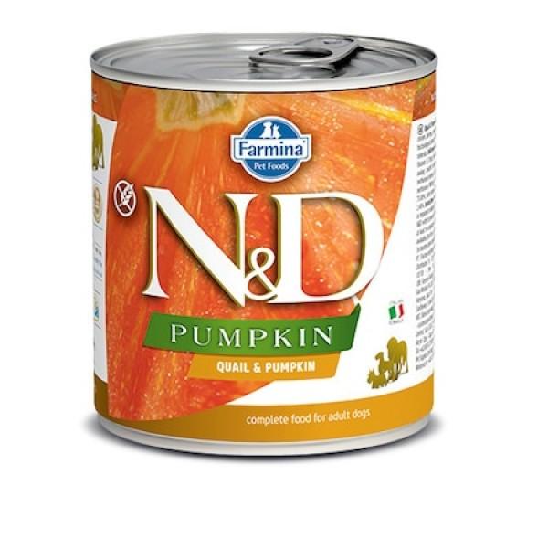 N&D консерва за кучета - пъдпъдък и тиква, 285g