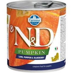 N&D консерва за малки кученца LAMB PUMPKIN&BLUEBERRY - агнешко, тиква и боровинки, 285g