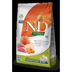 Храна за кучета N&D ADULT MEDIUM & MAXI PUMPKIN Средни и големи породи израснали кучета с тиква, глиганско и ябълка