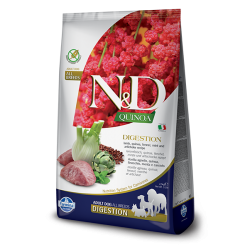 Храна за кучета N&D QUINOA DIGEST LAMB ADULT Всички породи кучета с агнешко, киноа, копър, мента и артишок