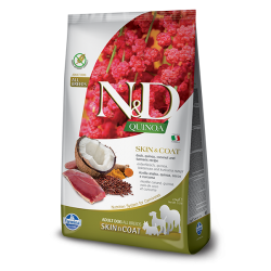 Храна за кучета N&D QUINOA SKIN & COAT DUCK ADULT Всички породи кучета с патешко, киноа, кокос и куркума