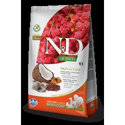 Храна за кучета N&D QUINOA SKIN & COAT HERRING ADULT Всички породи кучета с херинга, киноа, кокос и куркума