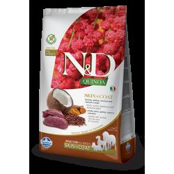 Храна за кучета N&D QUINOA SKIN & COAT VENISON ADULT Всички породи кучета с еленско, киноа, кокос и куркума