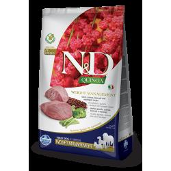 Храна за кучета N&D QUINOA WEIGHT LAMB ADULT Всички породи кучета с агнешко и броколи