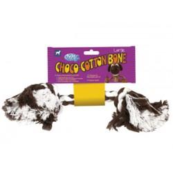 Pet Brands Choco-Cotton Bone - Въжен кокал играчка за кучета