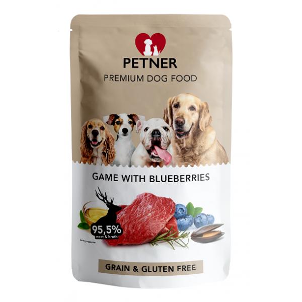 Petner Game With Blueberrys Pouch - пауч за кучета на възраст над 12 месеца, 500 гр.
