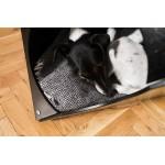 Black Place Modern Dog House - Стилна Черна Къщичка за Куче