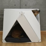 White Place Modern Dog Triangle House Стилна Бяла Къщичка за Куче Триъгълик