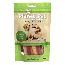 Planet Pet Chicken - Lamb Slices - Лакомство с пилешко и агнешко от прясно месо 80 грама