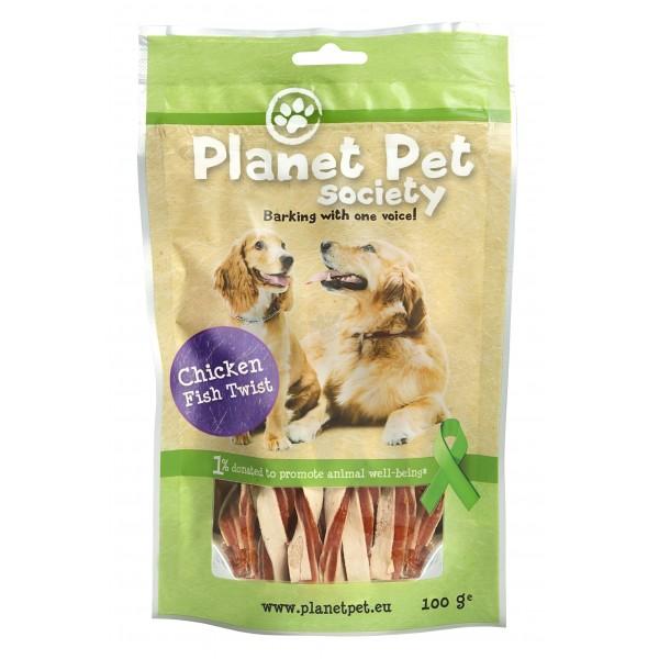 Planet Pet Chicken and Tuna - Лакомство за куче с пилешко месо и риба тон 100 грама