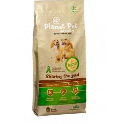 Planet Pet Society Adult - Пълноценна храна за средни породи 15 + 3кг ПОДАРЪК
