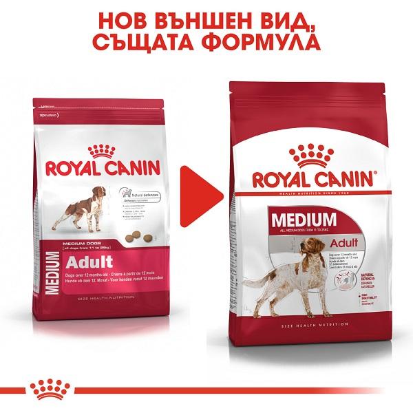 Royal Canin Medium Adult - Роял Канин Храна за Кучета -  Израснали над 12-месечна възраст