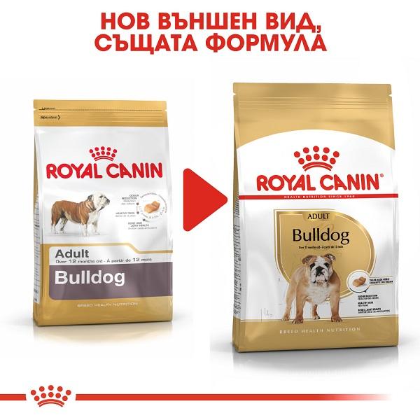 Royal Canin Bulldog Adult - Храна за кучета от Породата Булдог над 12 месеца