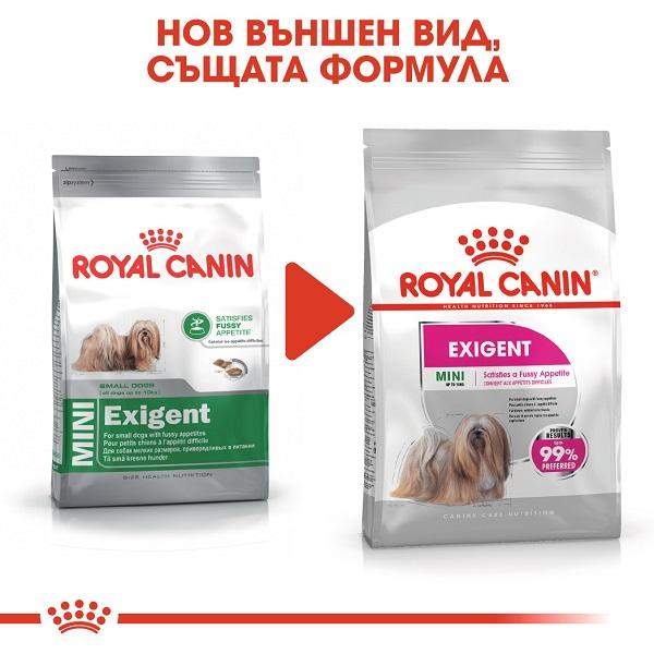 Royal Canin Mini Exigent - Храна за Кучета - Капризни Кучета от Дребните Породи