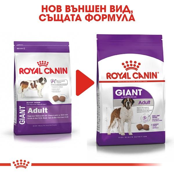 Royal Canin Giant Adult - Роял Канин Храна за Кучета от Гигантските Породи