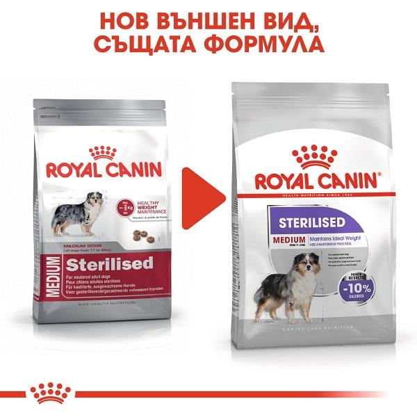 Royal Canin Medium Sterilised - Роял Канин Храна за Кучета от Средните Породи - Кастрирани