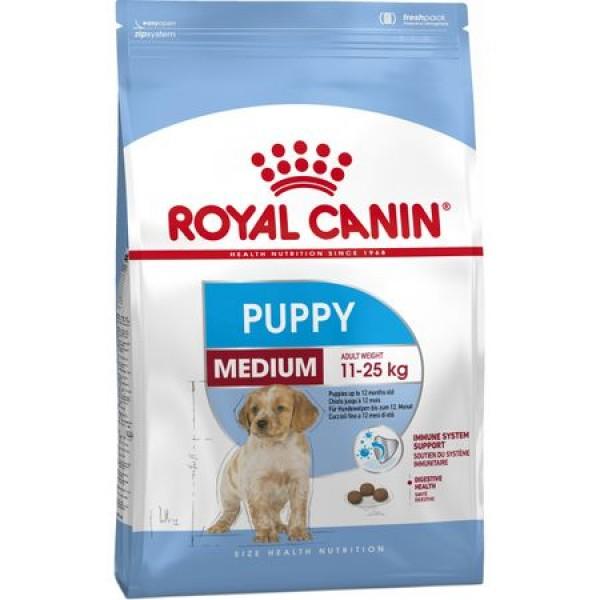 Royal Canin Medium Puppy за подрастващи кучета до 12м - 15kg.