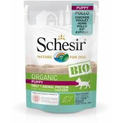 Schesir Bio Puppy With Chicken - Пауч за Бебета и Подрастващи Кучета Шезир Био с Пиле