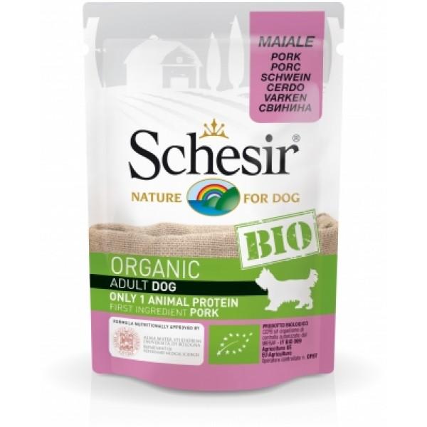 Schesir Bio Adult With Pork - Пауч за Възрастни Кучета Шезир Био със Свинско