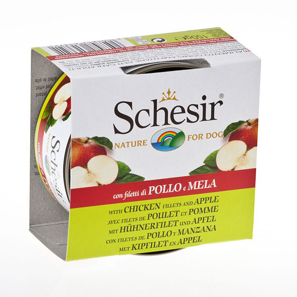 Schesir Nature Chicken and apple - с пилешко филе и ябълки 150 гр