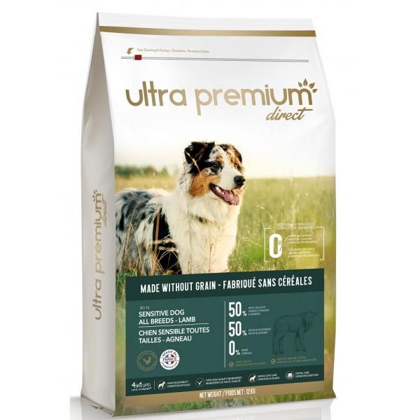 Ultra Premium Direct Sensitive Adult dog all breeds Lamb, суха храна за пораснали чувствителни кучета от всички породи
