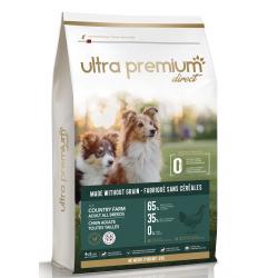 Ultra Premium Direct Country farm Adult all breeds - Промоция 12кг + 4 пауча и 1 консерва подарък