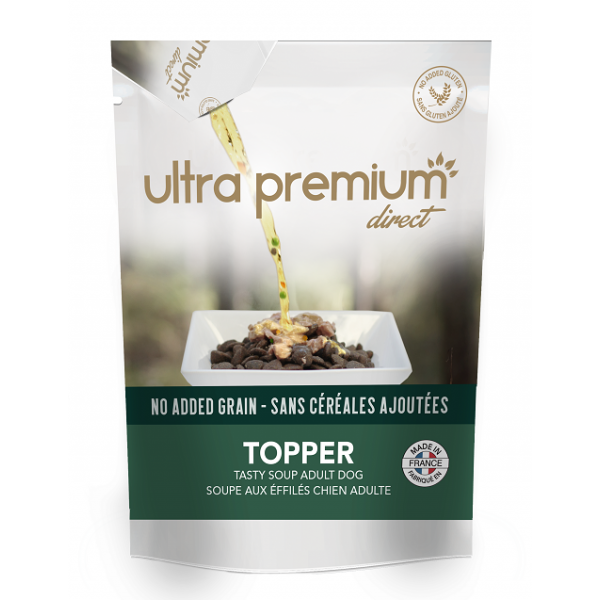 Ultra Premium Direct, Topper Adult dog with salmon, допълваща храна, 70 гр
