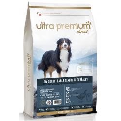 Ultra Premium Direct Adult salmon&rice all breeds - Промоция 12кг + 4 пауча и 1 консерва подарък