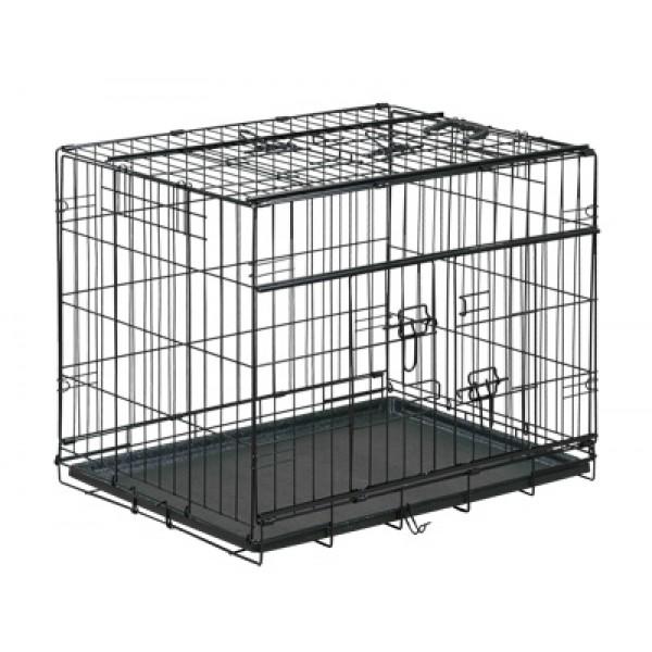 Vadigran TRANSPORT CAGE FOLDABLE PREMIUM BLACK - Вадигран Транспортна метална сгъваема клетка за куче