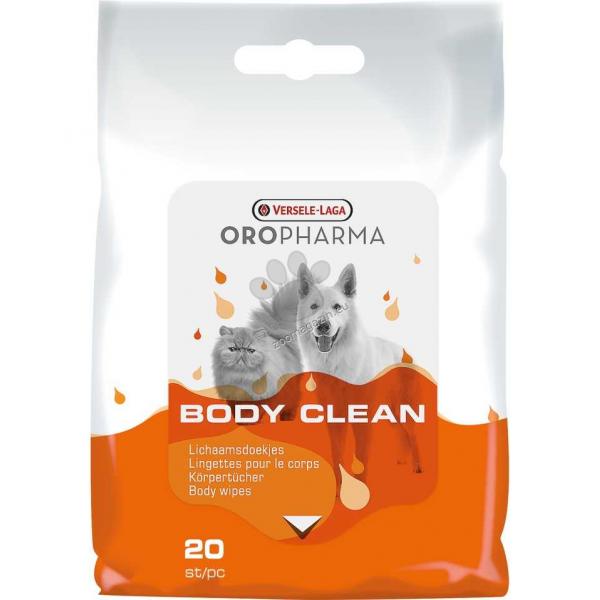 Versele Laga - Oropharma Body Clean - мокри кърпички за кучета и котки - почистване на тялото и лапите 20 бр.