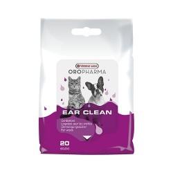 Versele Laga Oropharma Ear Clean Dog&Cats - кърпички с лосион за почистване на уши за куче и котка 20бр.