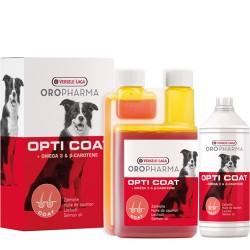 Versele-Laga Opti Coat – хранителна добавка за кучета с високо съдържание на сьомгово масло и В-каротин за лъскава козина и здрава кожа