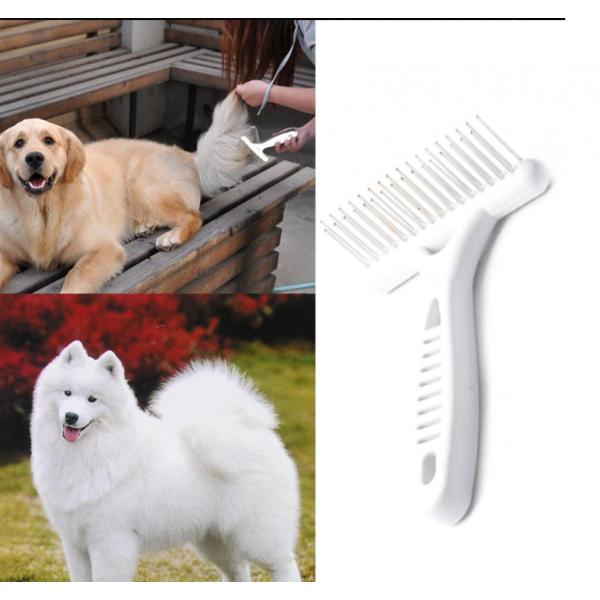 Гребен за кучета с метални зъбци за лесно разресване